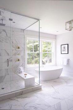 45 Stunning White Bathroom Decorating Ideas For Small House ideas remodel bathrooms bathroom design ideas paint ideas small bathroom ideas Marble Interior, Bathroom Interior Design, Kitchen Interior, Bathroom Goals, Small Bathroom, Bathroom Ideas, Bathroom Mirrors, Marble Bathrooms, Bathroom Organization