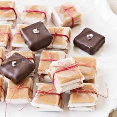 Homemade holiday gift - chocolate dipped carmels