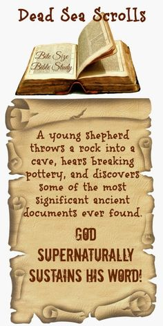 This true story will bless you when you think of the ways God has preserved and protected His Word and kept if from contamination throughout human history. ~ To see study, double click image.