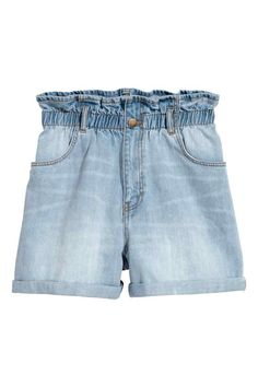 Denim short - Licht denimblauw - DAMES | H&M NL