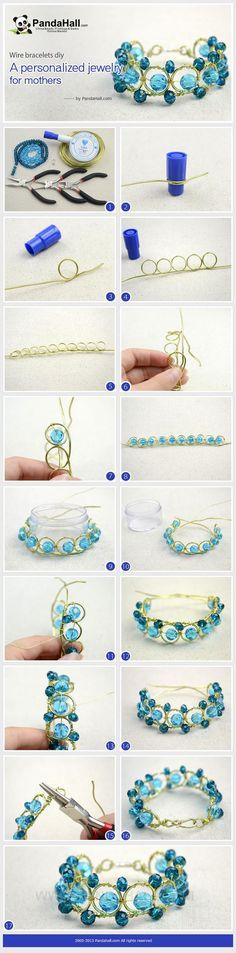 nice DIY Bijoux - DIY Tutorial: DIY Wire Bracelet  / DIY Wire  Bracelet - Bead&Cord Check more at https://listspirit.com/diy-bijoux-diy-tutorial-diy-wire-bracelet-diy-wire-bracelet-beadcord/