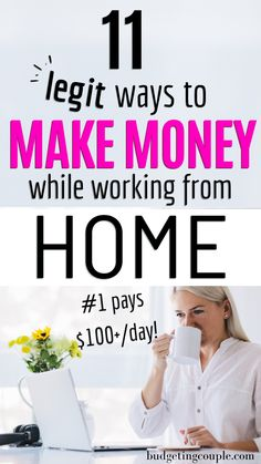 Looking for some easy ways to make extra cash? Boost your income with these legit side hustles you can do from home! Build your savings & make extra money while working from home. BudgetingCouple.com Work From Home Jobs, Make Money From Home, Make Money Online, Money Plan, Money Tips, Money Hacks, Budgeting Finances, Budgeting Tips, Ways To Save Money