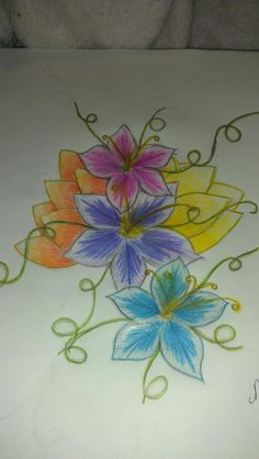 My first attempt at drawing flowers