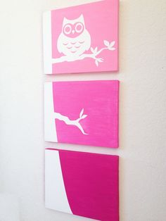 Owl Ombre Canvas Art (Choose your colors!)  www.ADapperDuck.com