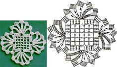 Love this #crochet motif. Language aside, there's a chart. I need to study this. Gorgeous!