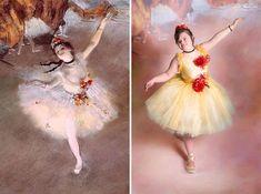 Fotógrafa recria obras de arte famosas com crianças com Síndrome de Down
