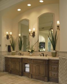 Beautiful bathroom decor some ideas. Modern Farmhouse, Rustic Modern, Classic, light and airy master bathroom design ideas. Bathroom makeover ideas and bathroom renovation suggestions. Bad Inspiration, Bathroom Inspiration, Mirror Inspiration, Dream Bathrooms, Beautiful Bathrooms, Glamorous Bathroom, Master Bathrooms, Small Bathroom, Spa Bathrooms