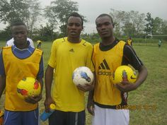 players pose after a session