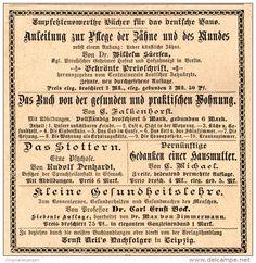 Original-Werbung/Inserat/ Anzeige 1892: ANLEITUNG ZUR PFLEGE DER ZÄHNE UND DES MUNDES ca. 95 x 90 mm