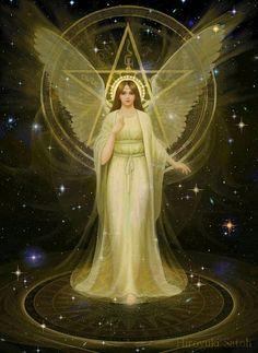 Guardian angel, pentagram halo ( Hiroyuki Satoh )