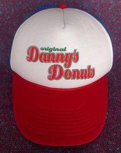 Mohr's Original Danny's Donuts Snapback Trucker Hat Cap Red White Blue Green #Mohrs #Trucker