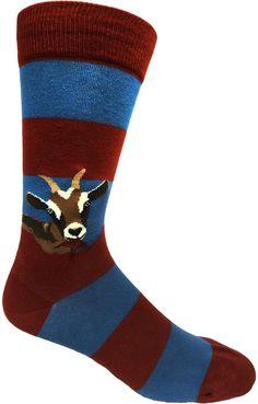 These goats are hungry for good fashion! ModSock Original men's crew socks fit men's shoe sizes 8 to Funky Socks, Crazy Socks, Work Socks, Men's Socks, Socks Men, Fair Games, Sock Animals, Novelty Socks, Striped Socks