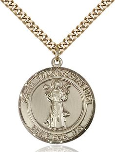 Gold Plate Heavy Curb Chain Patron Saint Travelers//Motorists 7//8 x 3//4 14kt Gold Filled St Christopher//Paratrooper Pendant