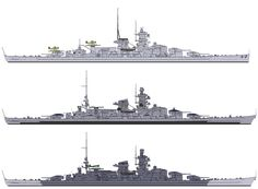 Evolution of 11 in battleship Scharnhorst, the most heavily engaged German capital unit of WW2 (she was sunk in December 1943).  The post trials modifications that gave her and sister Gneisenau funnel caps and raked bows also moved her mainmast (but not Gneisenau's) further aft.  Previously identical, from that time forward they were easy to tell apart.
