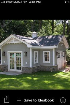gable vents Garage And Shed Traditional with cross gable roof cupola french doors grass Plan Garage, Garage Shed, Garage Storage, Garage Doors, Shed Plans, House Plans, Workshop Shed, Workshop Ideas, Workshop Design