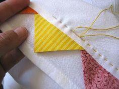 coser adornos en un doble dobladillo