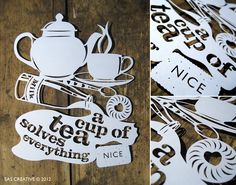 A combination of tea and one of my favourite crafts, paper cutting.