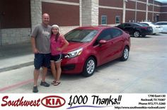 #HappyAnniversary to Ronald Gill II on your 2013 #Kia #Rio from Russell Paulov at Southwest KIA Rockwall!