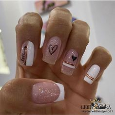 Acrylic Nails Coffin Pink, Coffin Nails, Gel Nails, Diamond Nails, Manicure E Pedicure, Barbie, Nail Designs, Nailart, Hair Beauty