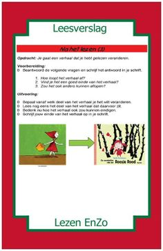Leesverslag > na het lezen. Afloop verhaal veranderen. Dutch Language, Reading Activities, Spelling, Classroom, Teacher, Writing, Books, Kids, Writing Fonts