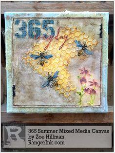 365 Summer Themed Mixed Media Canvas by Zoe Hillman | www.rangerink.com