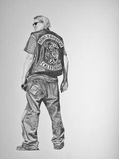 Jax Teller Pencil Drawing - Sons of Anarchy
