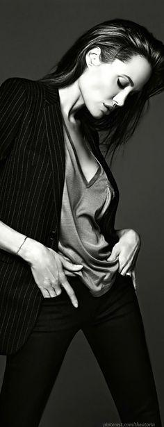 Angelina Jolie in Yves Saint Laurent ● ELLE Magazine, June 2014