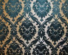 Upholstery Jacquard Damask Nara Burnout Flocked Azure Drapery fabric sold BTY