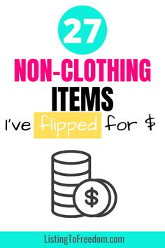 Make Money Fast, Make Money From Home, Repurposed Items, Selling Online, Flipping, Clothing Items, Thrift, Platforms, Things To Sell