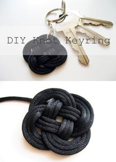 DIY Knot Key Ring Tutorial from Adorablest. This is an easy...