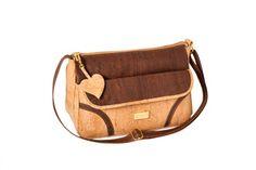 Shoulder cork bag, with zip. Adjustable strap - OSAKA Brown