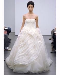 Vera Wang Fall 2013 Collection... The poof on this dress is exquisite. Not over the top and definitely mod!