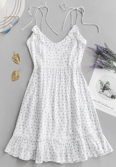 Ruffle Tie Printed Cami Dress – GaGodeal Sun sun dresses plus size sun dresses with sleeves sundress outfits sundresses dresses sundresses for weddings dresses sundresses Wedding Invitations Trends 2019 White Dress Summer, Casual Summer Dresses, Sexy Dresses, Cute Dresses, Short Dresses, Elegant Dresses, Floral Dresses, Summer Sundresses, White Dress Casual