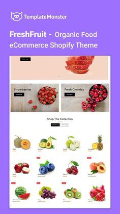 Organic Recipes, Fresh Fruit, Ecommerce, Watermelon, Avocado, Strawberry, Vegetables, Food, Templates