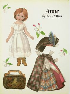 Here is a two page magazine paper doll named Anne by Lee Collins from Doll Reader 1989.  She has three...