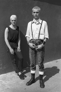 Hibrido: Skinhead / Punk, 1984. Fotografia: Derek Ridgers