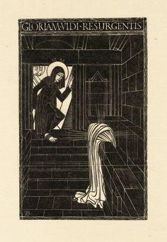 Artwork page for 'Resurrection', Eric Gill, 1917 Bible Illustrations, Illustration Art, Spiritual Images, Biblical Art, Easter Art, Arts And Crafts Movement, Sacred Art, Religious Art, Printmaking