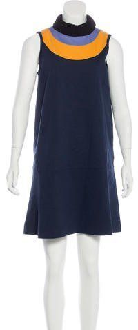 M Missoni Sleeveless Turtleneck Dress