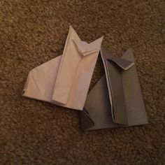Origami wolves