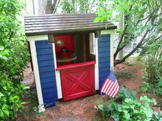 plastic playhouse makeover - amazing what a coat of paint can do