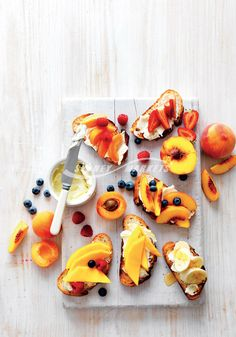 Prep 20 mins | Serves 4 kids These delicious toast toppers are perfect for a healthy colourful breakfast or a snack.  What you'll need: Reduced fat spreadable cream cheese Sliced sourdough bread   your choice of the following fruit combos   Toast your bread until golden. Spread with cream cheese and top with your favourite seasonal summer fruits.    Try these combos for your Summer fruit toast toppers:  Sliced banana and a drizzle of honey Fresh mango slices and sliced strawberries Sliced…