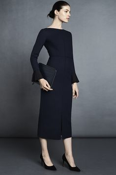 Connaught Dress in Navy