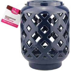 Better Homes and Gardens Navy Ceramic Lantern