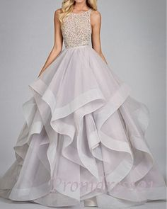 layered long prom dress, ball gown,cute+dress+for+teens #promdress