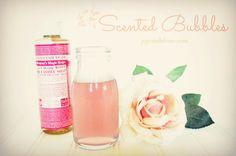 scented bubbles, rose, bonners soap
