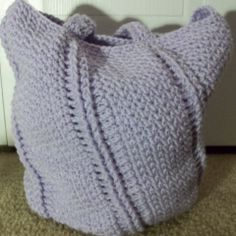 Spiral Textured Seed Stitch Bag: free pattern