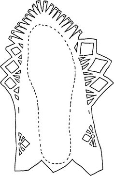 To construct, enlarge to appropriate size and cut out carefully. Lace together through the holes. See illustration.