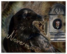 Halloween The Raven Edgar Allan Poe Nevermore by AJoyfulStudio, $20.00
