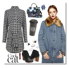 """""""Cool cat!"""" by faten-m-h ❤ liked on Polyvore featuring Current/Elliott, Kenzo, The Created Co., Design Lab and polyvoreeditorial"""