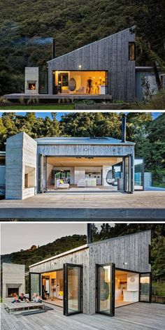 Architecture design our pitch is considerably less than this one This looks more like our pitch is considerably less than this one This looks more like House in New Zealand / LTD Architectural Design Studio Tiny House Cabin, Tiny House Design, Modern House Design, Container House Design, Residential Architecture, Modern Architecture, New Zealand Architecture, Architectural Design Studio, Casas Containers